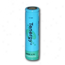 Tenergy Li-ion 18650 Cylindrical 3.7v 2600mah Flat Top Rechargeable Battery W/ Pcb