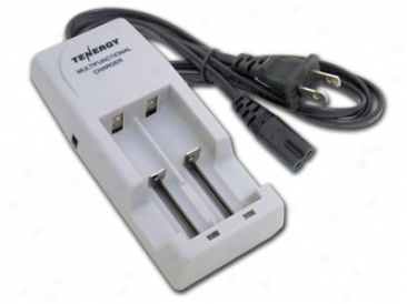 Tenergy Multifunctional Charger For Li -ion Cylindrical Rechargeable Batteries (14500, 18500, 18650)