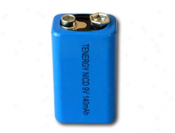 Tenergy Nicd 9v 140mah Highh Capacity Rechargeable Battery