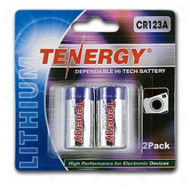 Tenergy Porpel Cr123a Lithium Battery With Ptc Protected (2 Pcs) - Retail Card
