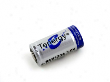 Tenergy Rcr123a 3.0v 900mah Rechargeable Li-ion  Battery