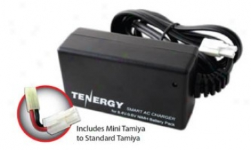 Tenergy Smatr Charger For 8.4v-9.6v Nimh Airsoft & Rc Battery Packs W/ Mini Tamiya Connector + Stqndard Tamiya Adapter (#80017)