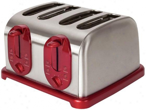 4-slice Toaster - 7.38hx11.25wx12, Back/stainless