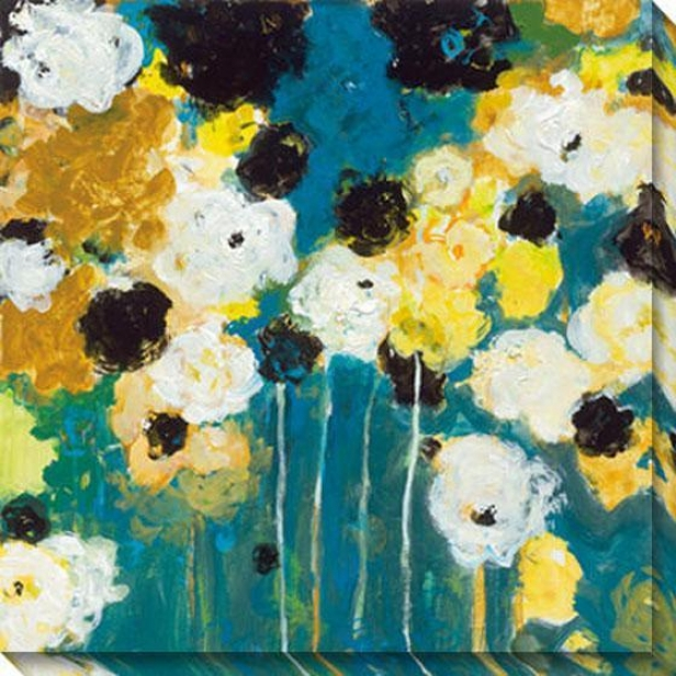 Abundance I Canvas Wall Art - I, Blue