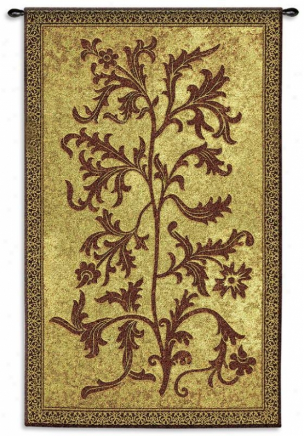 """acanthus Vine Tapestry - 75""""hx44""""w, Brown"""