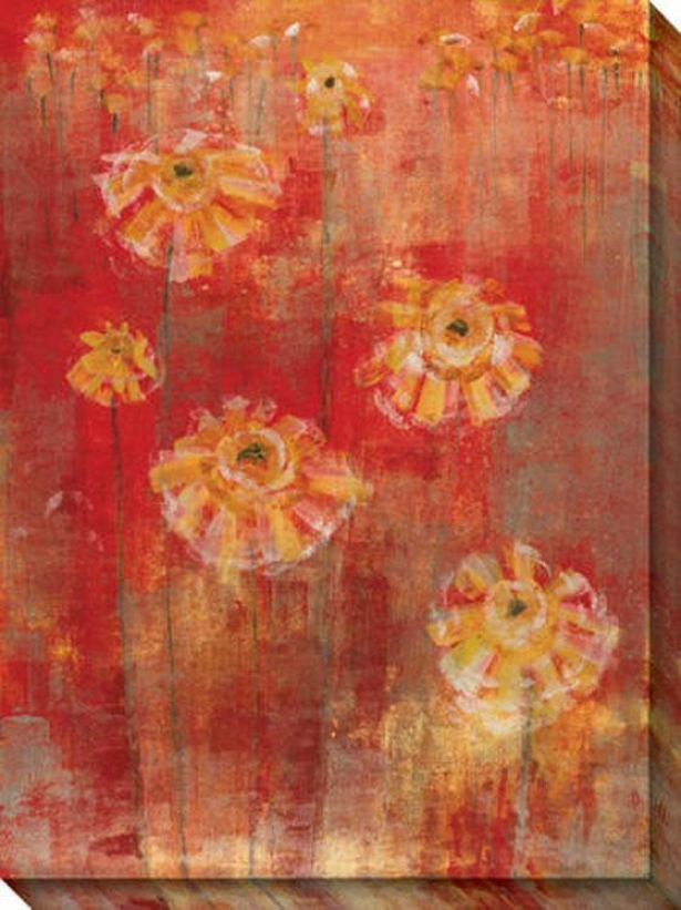 Homage I Canvas Wall Art - I, Red