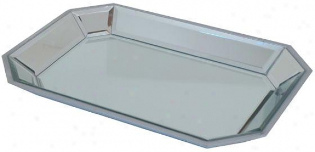 """aidan Mirrorde Tray - 17""""wx12""""d, Silver"""