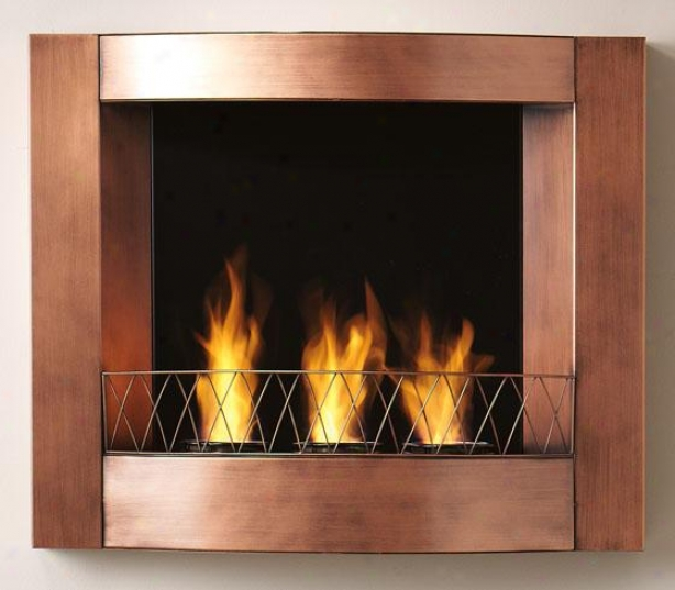 """aidan Wall A~ Fireplace - 27""""wx23""""hx5.5""""d, Copper"""