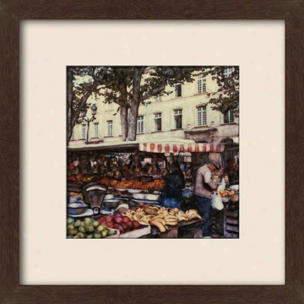 """aix En Provence Framed Wall Art - 27""""hx27""""w, Matted Espresso"""