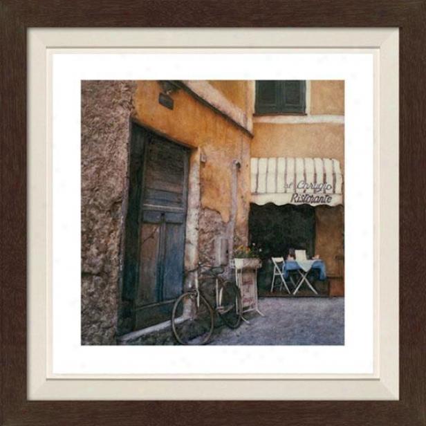 """al Carugio Framed Wall Art - 30""""hx30""""w, Fltd Espresso"""