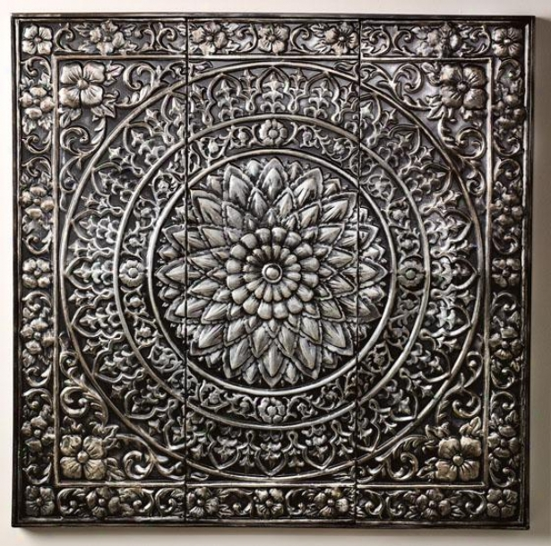 &quot;amaryllis Metal Wall Decor - 36&quot;&quot;h X 36&quot;&quot;w, Metallic&quot;