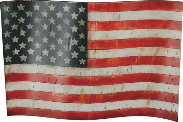 """americana Wall Art - 24""""hx35""""w, Red"""
