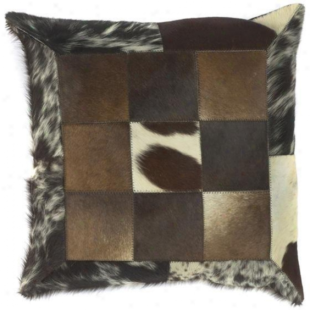 """animmals Print Pillows With Squares - Regulate Of 2 - 18""""x18"""", Brown"""