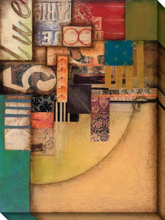 Anthology I Canvas Wall Art - I, Gold