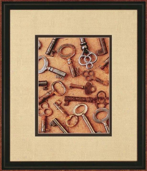 """""""antique Collages Wall Art - 28""""""""hx24""""""""w, Antique Keys"""""""