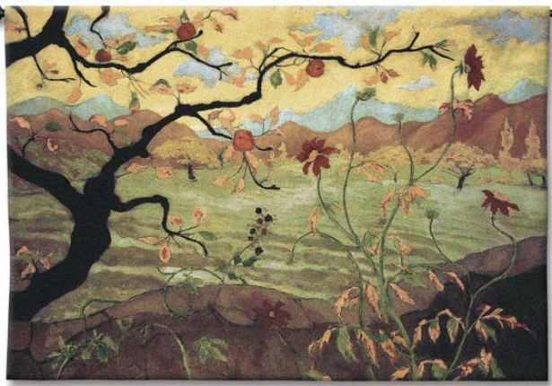 """""""apple Tree With Red Fruit Tapestry - 38""""""""hx53""""""""w, Multi"""""""