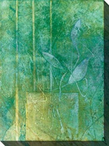 Aqueous Ii Canvas Wall Art - Ii, Green