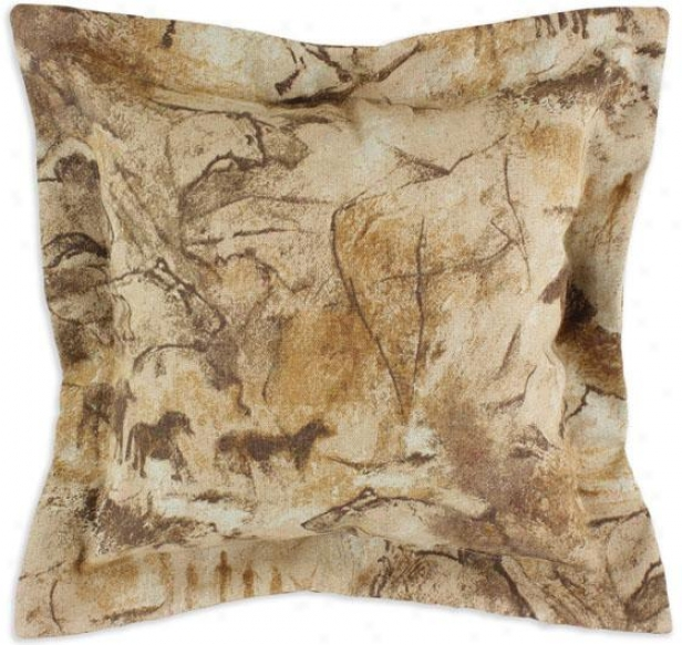 Archaeology Collectionn Pillows - Pil Flange 17sq, Archaeology Tan