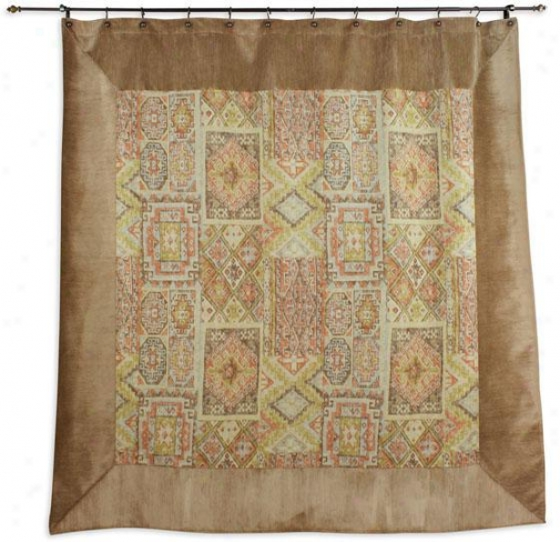 Archaeology Collection Shower Curtain - Shr Curtn 72x72, Mitered Tan/ane