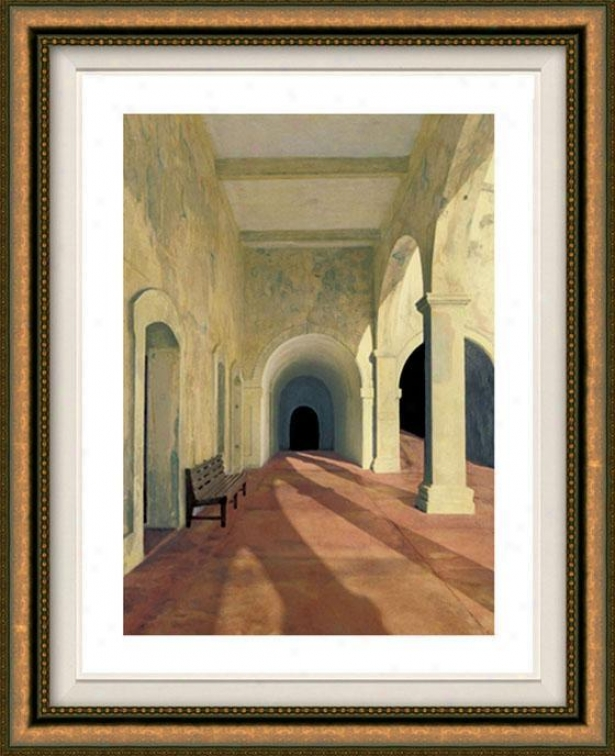 """arcos Viejos Framed Wall Creation of beauty - 38""""hx32""""w, Floated Gold"""