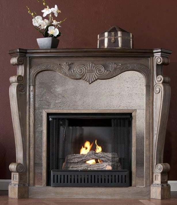 Arthur Fireplace - Gel Frieplace, Burnt Oak/gray