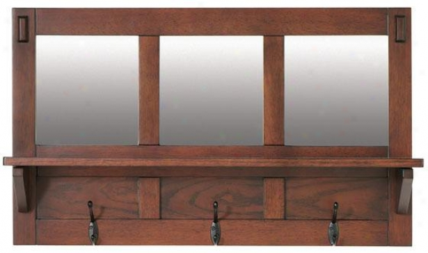 """artisan Wall Shelves - 30wx8dx18h"""", Brown Oak"""
