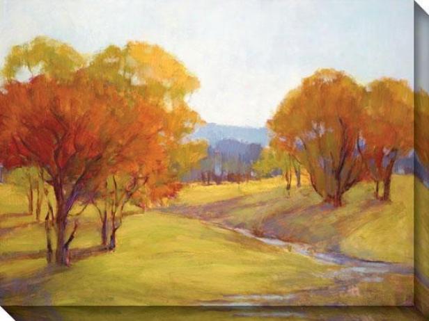 Autumn Day I Canvas Wall Art - I, Green