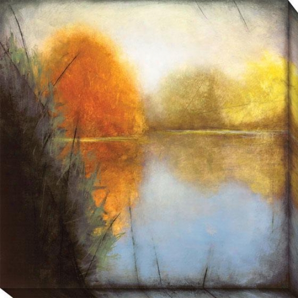 Autumn Fen I Canvas Wall Art - I, Blue