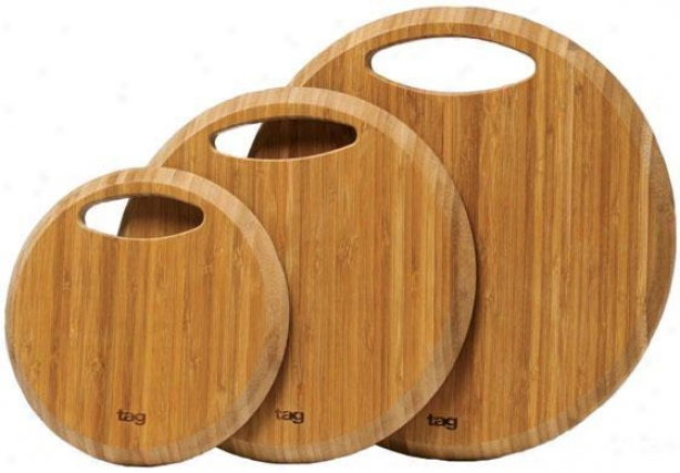 Bamboo Cutting Boards - Set Of 3 - Set Of 3, Ivory