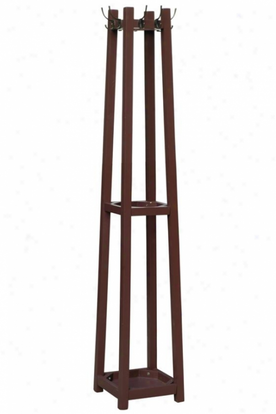 """barry Coat Rack - 12""""wx12""""dx71""""h, Brown"""