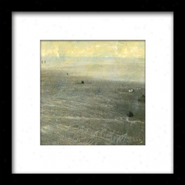 Beach Series Ii Framed Wall Art - Ii, Matted Black
