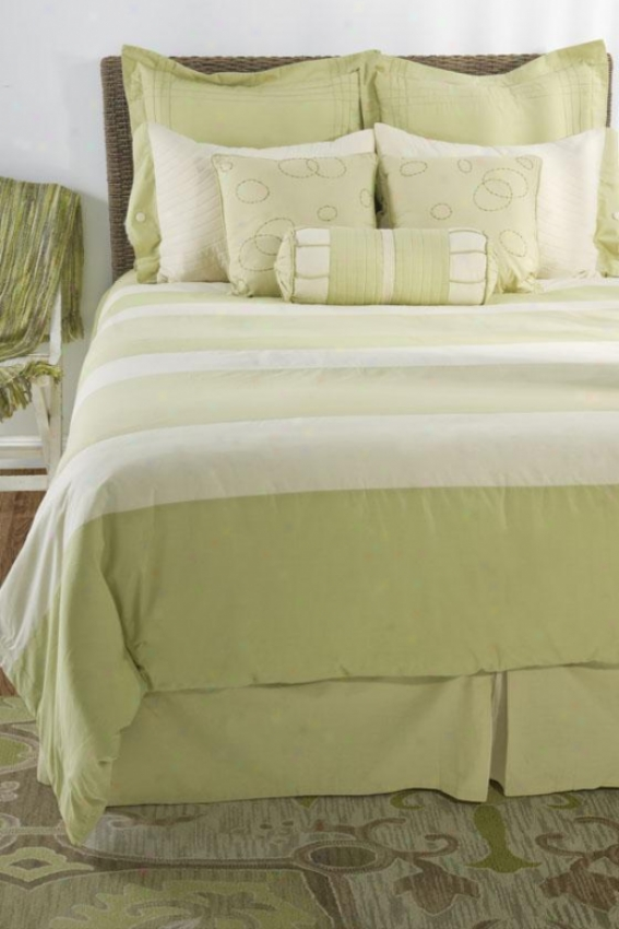 Belinda Bedding Regular - Cal King 10pc, Green