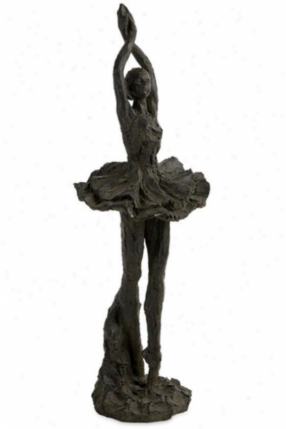 """bella Ballerina Sculpture - 18.5""""hx6.25""""w, Black"""