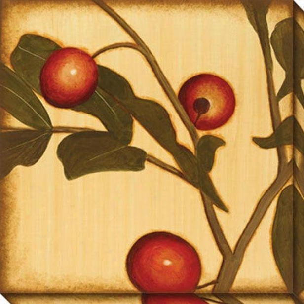 Berry Branch I Canvas Wall Art - I, Gpld