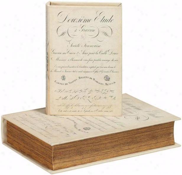 Binder Book Box - Set Of 2 - Set Of 2, Black