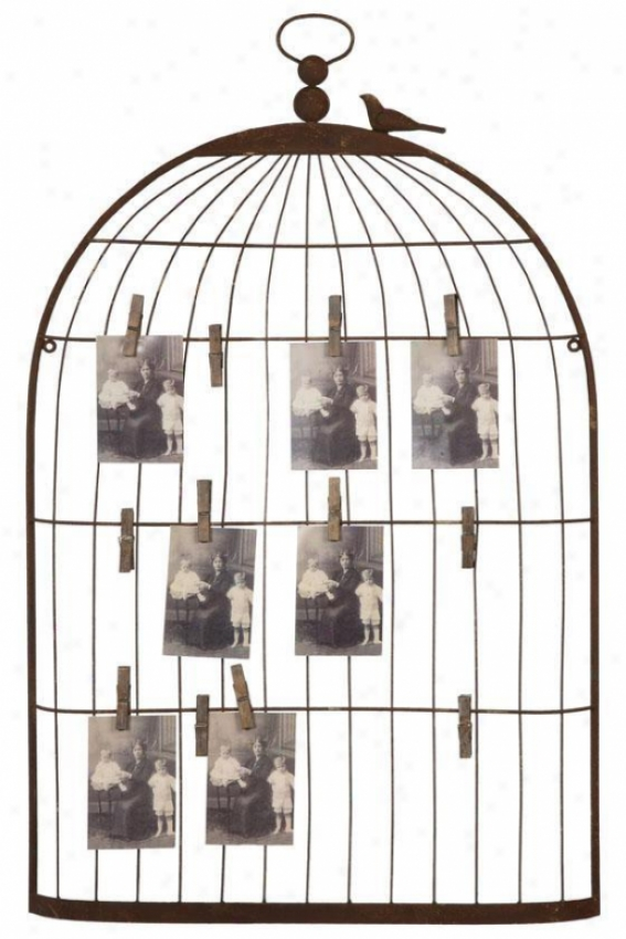 Birdcage Card Owner - 22x2, Bronze