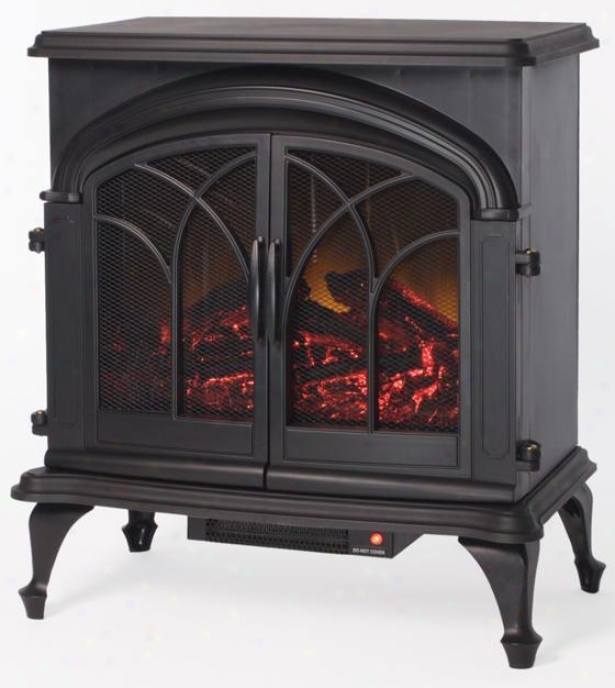 Blake Marked by ~ity Stove Fireplace - Metal, Black