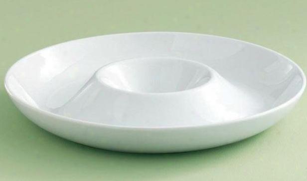 """blanco Chip & Dip Platter - 14""""round X 2""""h, White"""