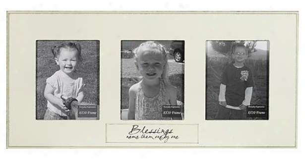 Blessing Name Them One By One Frame - 8 X 10 - 3(8x10), Ivory