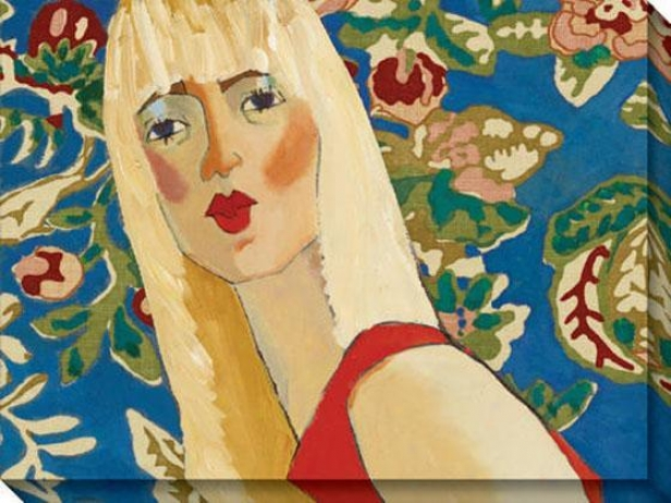 """""""blondie Has The Blues Canvas Wall Cunning - 48""""""""hx36""""""""w, Blue"""""""