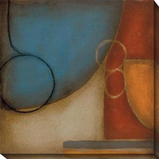 Blue And Orange I Cqnvas Wall Art - I, Blue