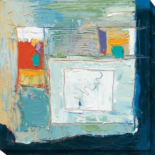 Blue Tear Falling I Canvas Wall Art - I, Blue
