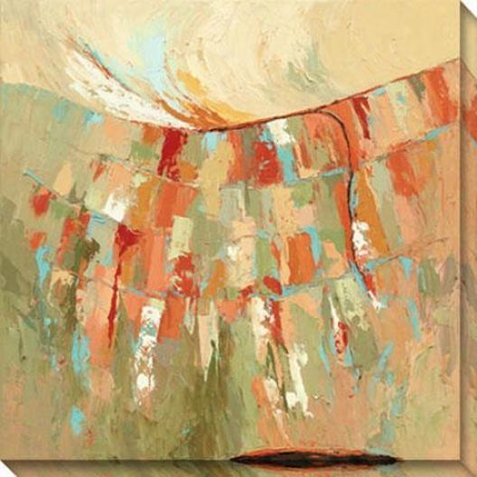 Bold Beginnings Ii Canvas Wall Art - Ii, Green