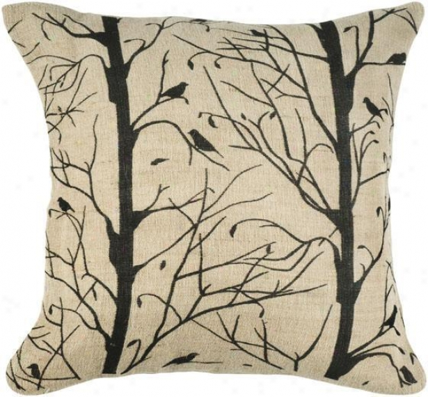 """branches Pillow - 18"""" Square, Black"""
