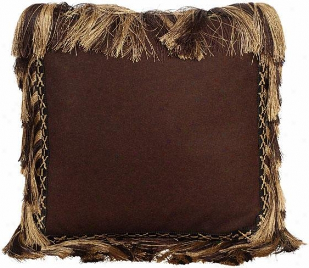 """brianna Pillow - 18"""" Square, Chocolate Brown"""
