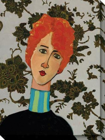 """""""burberry Redhead Caanvas Wall Art - 36""""""""hx48""""""""w, Black"""""""