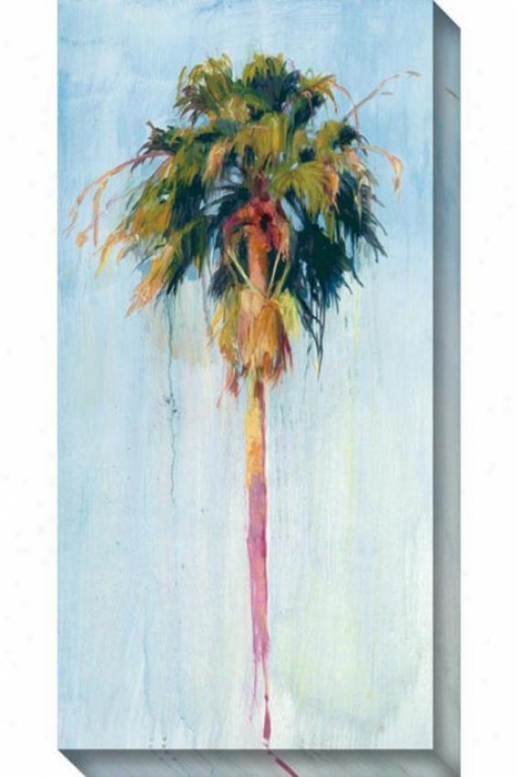 Cabbage Palm Ii Canvas Wall Art - Ii, Blue