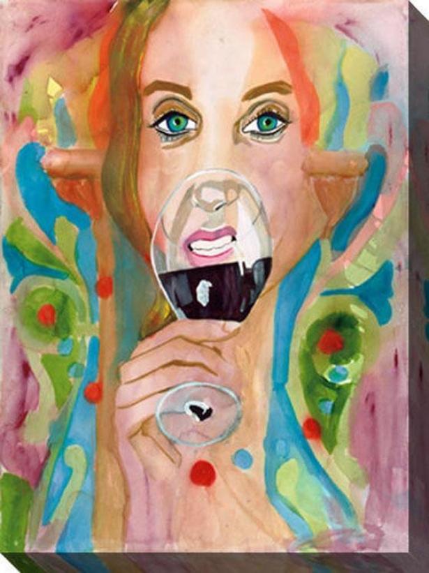 """cabernwt Mosaic Canvas Wall Art - 36""""hx48""""w, Multi"""