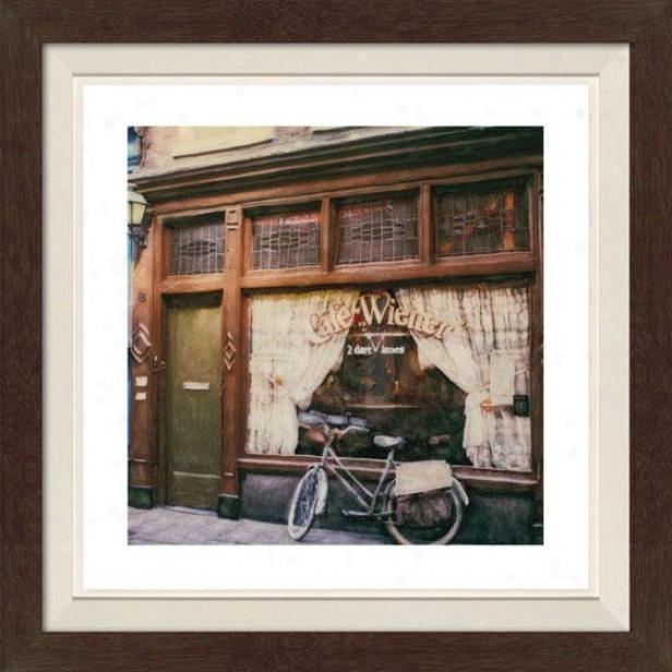 """cafd Weiner Framed Wall Creation of beauty - 30""""hx30""""w, Fltd Espresso"""