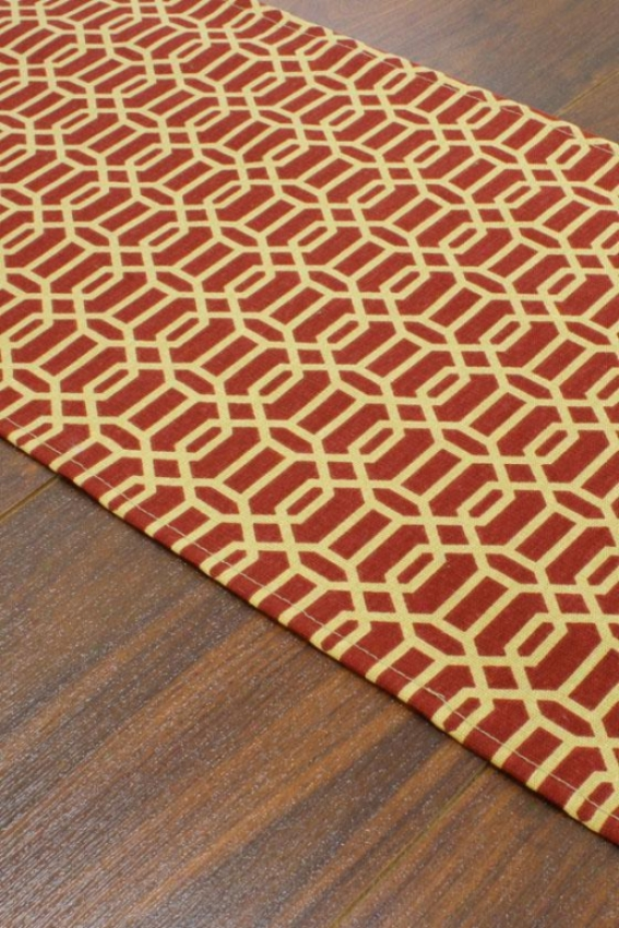 """callaway Collection Table Runner - Table Runner, 12.5x72""""x, Fawle Ruby"""